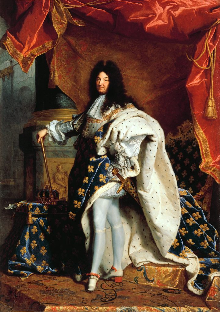Hyacinthe Rigaud, Luigi XIV Re di Francia e di Navarra, 1701 (Paris, Louvre)