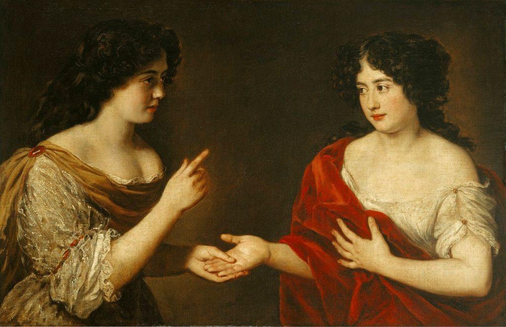 """Jacob Ferdinand Voet, """"Maria Mancini predice il futuro alla sorella Ortensia"""", 1680 circa (Roma, Proprietà INPS, Direzione Generale)"""