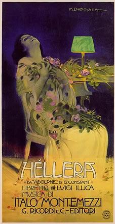 M. Dudovich, Héllera, 1909, 200-105 cm. Stampa Ricordi, Milano (Museo Civico Bailo Treviso)
