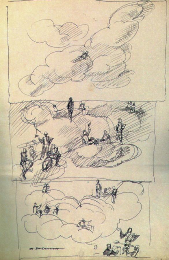 """M. Dudovich, studio per murale, china su carta 48,5x33cm. - Fonte: G. Granzotto, """"Marcello Dudovich"""", 1999"""