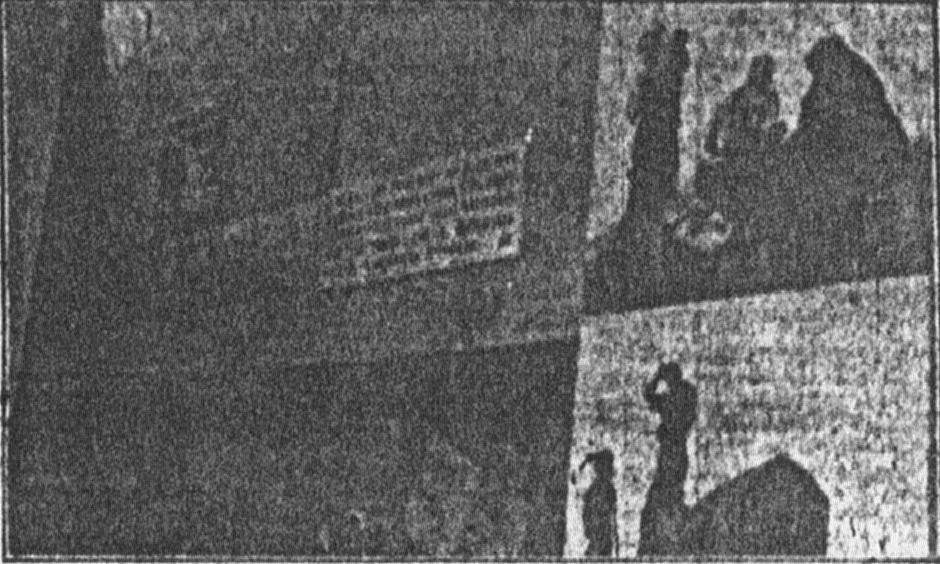 """Fotografia da un giornale d'epoca, III Mostra Nazionale dell'Agricoltura (Firenze, 19 Maggio - 10 giugno 1934): i pannelli sulla destra sono, presumibilmente, di M. Dudovich - Fonte: """"M.A. de Caterina, Marcello Dudovich: le decorazioni murali (1906 - 1947)""""."""