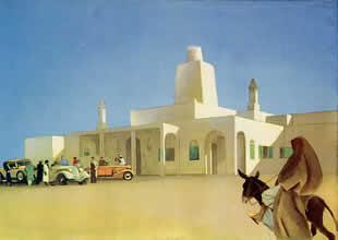 M. Dudovich, From Tripoli to Gadames - A Nalut hotel, policromia per tavola illustrativa, 16,5 x 23 cm., 1930 – Archivio M. Dudovich, Milano. Fonte: www.marcellodudovich.it