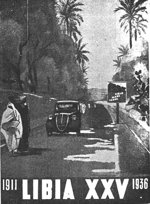 """M. Dudovich, copertina per la rivista """"Libia"""", 1936-37 ca. – Fonte: """"M.A. de Caterina, Marcello Dudovich: le decorazioni murali (1906 - 1947)""""."""
