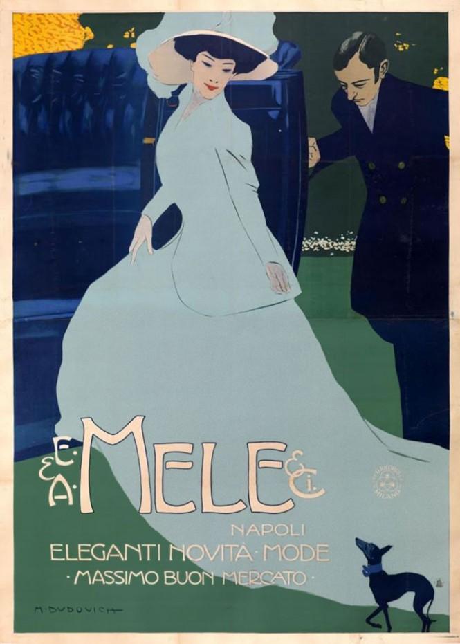 M. Dudovich, E&A Mele & C. Napoli - Eleganti novità mode- Massimo buon mercato, 1908, 205 x 150 cm., Raccolta Salce, Civico Museo Bailo ,Treviso