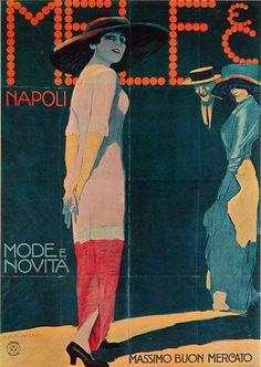 M. Dudovich, Mele & C. Napoli – Mode e Novità, 1911-12 ca. Manifesto litografico (stampa Ricordi, Milano). 205 x 145 cm. Raccolta Salce, Museo Civico Bailo, Treviso
