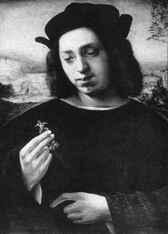 """Ridolfo del Ghirlandaio, L'orafo, Firenze, Galleria Palatina – Fonte: """"M.A. de Caterina, Marcello Dudovich: le decorazioni murali (1906 - 1947)""""."""