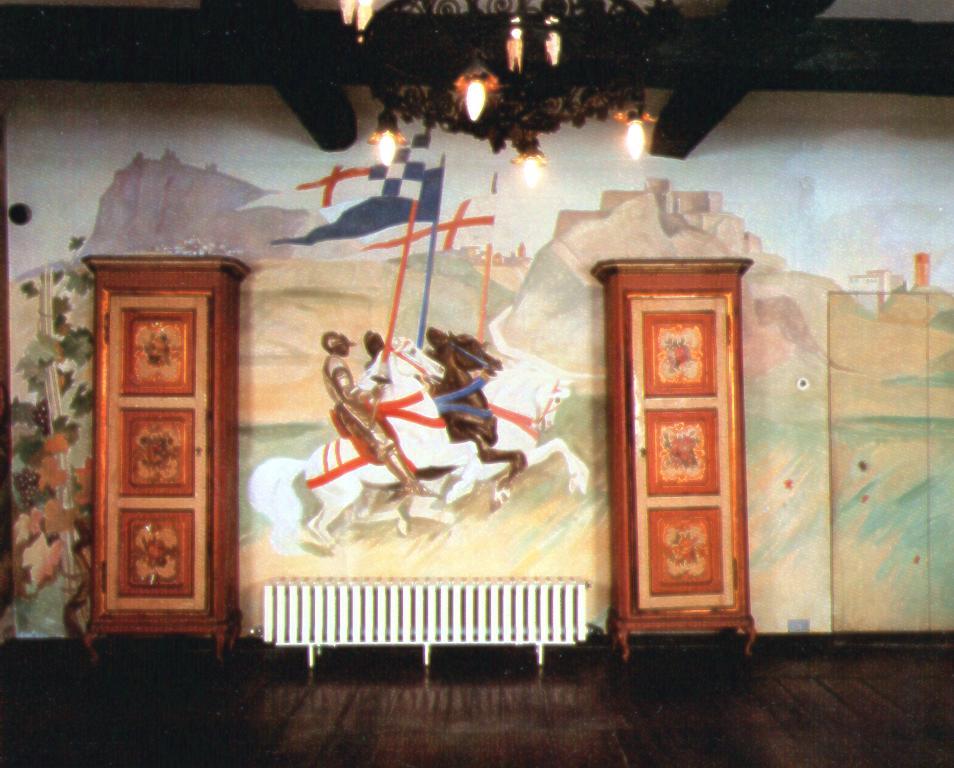 """M. Dudovich, la """"seconda"""" parete del salotto di Villa Amalia – Fonte: """"F. Farina, Il mare di Dudovich"""""""