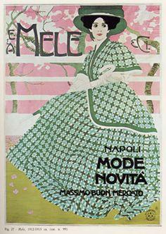 M. Dudovich, Mele & C. Napoli – Mode e Novità, 1907 ca. Manifesto litografico (stampa Ricordi, Milano). 205 x 150 cm. Raccolta Salce, Museo Civico Bailo, Treviso