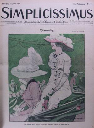 """M. Dudovich, Prima di copertina """"Simplicissimus"""", 1912. Fonte: www.marcellodudovich.it"""
