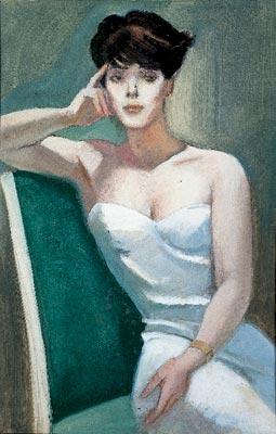 M. Dudovich, Eveline, 1957-58 ca., tempera su carta. Galleria Civica d'arte Moderna Aroldo Bonzagni, Cento