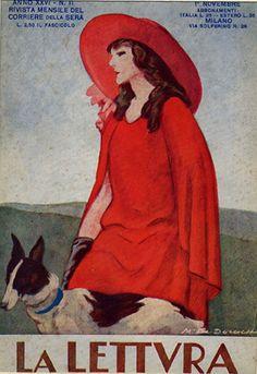 """M. Dudovich, Copertina per """"La Lettura"""", 1926"""
