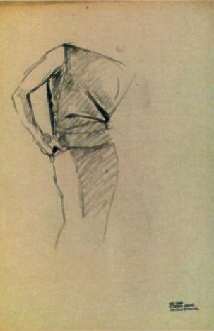 """M. Dudovich, Studio per pubblicità, lapis su carta, 50,5x36 cm – Fonte: G. Granzotto, """"Marcello Dudovich"""", 1999"""