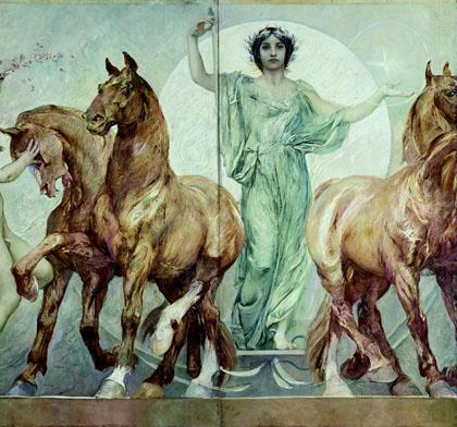 G.A. Sartorio, Fregio del Parlamento a Roma (particolare), 1908-12
