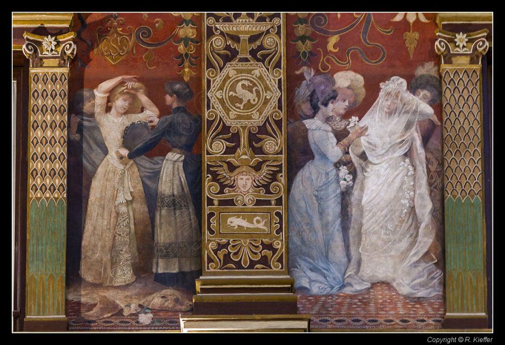 G. Cellini, Decorazioni della Galleria Sciarra a Roma, particolare, 1877. Fonte: http://www.raoul-kieffer.net/it/