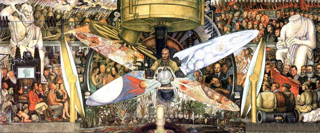 D. Rivera, il murale al Palazzo delle Belle Arti a Città del Messico, 1934