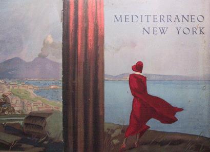 M. Dudovich, Lloyd Sabaudo. Mediterraneo- New York, 1932, 54 x 35 cm. Collezione privata RT, Cesenatico ( FO). Fonte: www.marcellodudovich.it