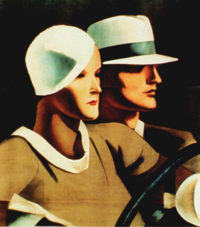 G. B Borsalino fu Lazzaro & C., 1933 ca., Manifesto litografico (stampa Ricordi, Milano), 195x140 cm. Raccolta Salce, Museo Civico Bailo, Treviso. Il manifesto, non firmato, è stato a scritto a Dudovich ma è di W. Resentera